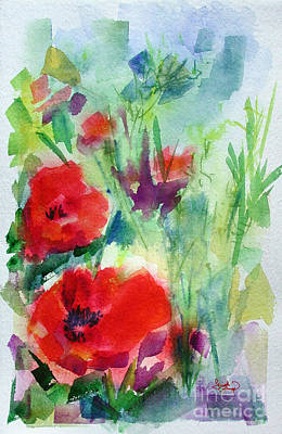 Painting - Red Poppy Heads by Ginette Callaway