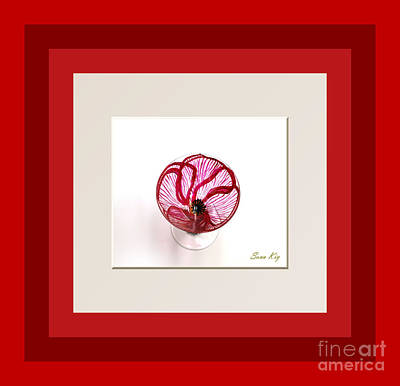 Glass Art - Red Poppy. Soul Inspirations by Oksana Semenchenko