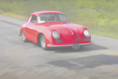 Photograph - Red Porsch 356 by Jack R Perry