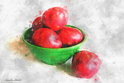 Red Potatoes In A Green Bowl Art Print