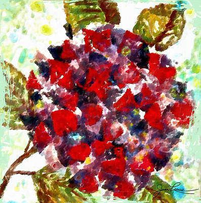 Painting - Red Purple Flower by Joan Reese