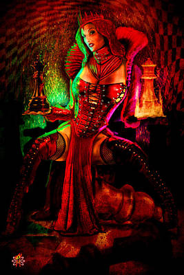 Digital Art - Red Queen by Doug Schramm
