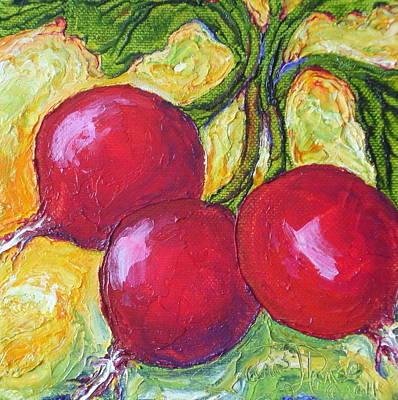 Red Radishes Art Print by Paris Wyatt Llanso
