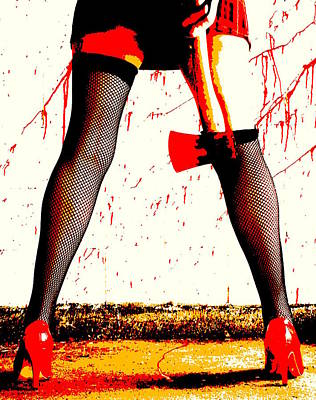 Photograph - Red Rain Forecast For The Zombie Apocalypse by Guy Pettingell