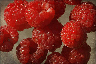Raspberry Photograph - Red Raspberries by Cindi Ressler