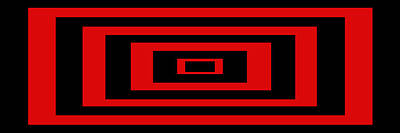Rectangle Digital Art - Red Rectangle by Mike McGlothlen