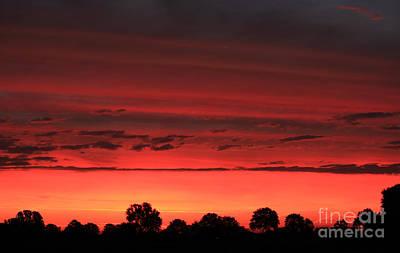 Red Red Sunrise Art Print