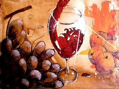 Red Red Wine Art Print by Marcello Cicchini