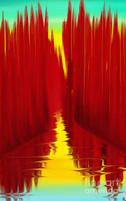 Painting - Red Reed River by Anita Lewis