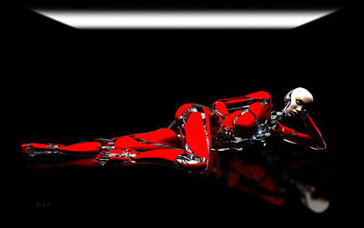 Digital Art - Red Reflection by Bob Orsillo