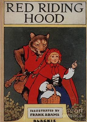Nineteen-tens Drawing - Red Riding Hood By Blackie 1910s Uk by The Advertising Archives