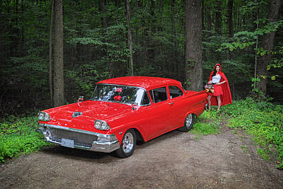Photograph - Red Riding Hood by Dennis James