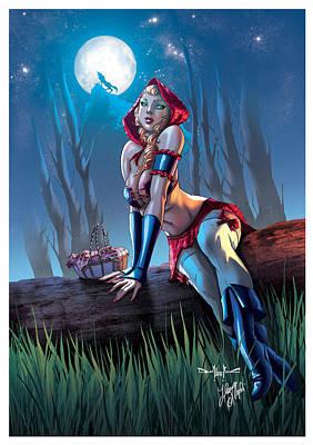 Talking Mixed Media - Red Riding Hood by Ylenia Art