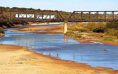 Photograph - Red River Crossing Off I-35 by Diana Mary Sharpton