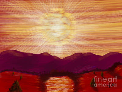 Painting - Red River Glory by Judy Via-Wolff