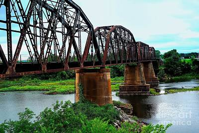 Photograph - Red River Rail Road Crossing In Color by Diana Mary Sharpton
