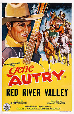 Autry Photograph - Red River Valley, Us Poster, Gene by Everett