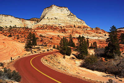Photograph - Red Road Through Zion II by Daniel Woodrum