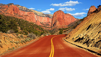Photograph - Red Road To Kolob Canyons by Daniel Woodrum