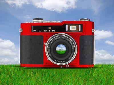 35mm Digital Art - Red Robin by Mike McGlothlen