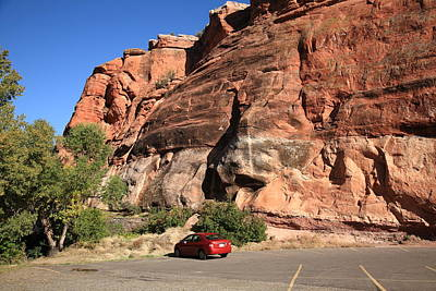 Photograph - Red Rock And Red Car by Frank Romeo