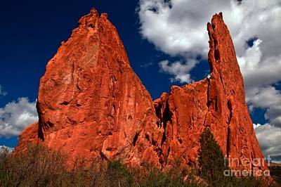 Photograph - Red Rock Blue And White by Adam Jewell