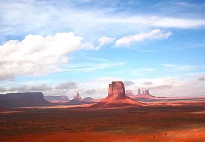 Photograph - Red Rock Blue Skies by Veronica Vandenburg