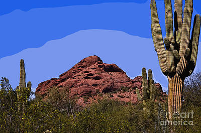 Digital Art - Red Rock Cactus by Kirt Tisdale