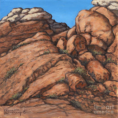 Painting - Red Rock Canyon 1 by Janet  Kruskamp