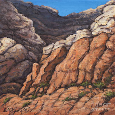Watercolor Typographic Countries - Red Rock Canyon 2 by Janet  Kruskamp