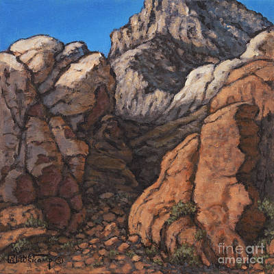 Painting - Red Rock Canyon 3 by Janet  Kruskamp