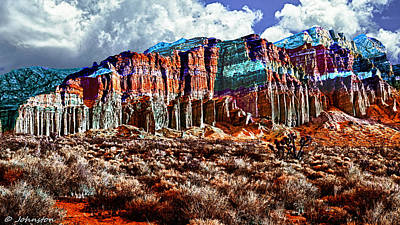 Digital Art - Red Rock Canyon California State Park by Bob and Nadine Johnston