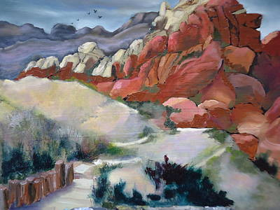 Painting - Red Rock Canyon Rocks by Luz Perez