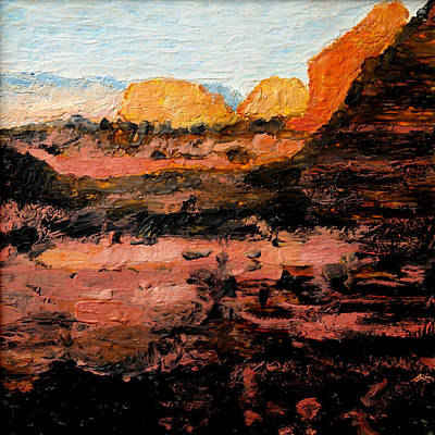 Hot Wax Painting - Red Rock Country 002 by John Warren OAKES