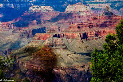 Grandview Digital Art - Red Rock Country Grand Canyon National Park by Bob and Nadine Johnston