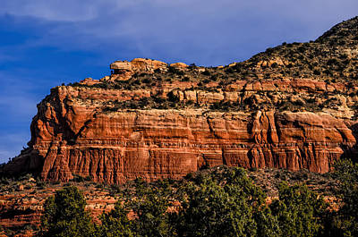 Photograph - Red Rock Crag by Mark Myhaver