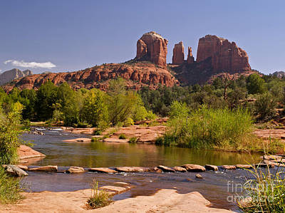 Cathedral Rock Photograph - Red Rock Crossing by Alex Cassels