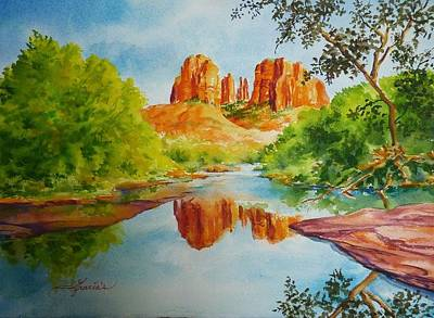 Red Rock Crossing  Art Print by Gracia  Molloy