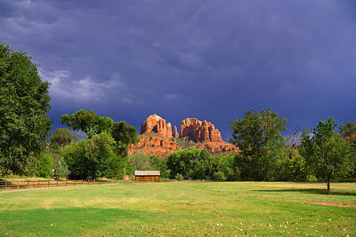 Cathedral Rock Photograph - Red Rock Crossing Park by Alexey Stiop