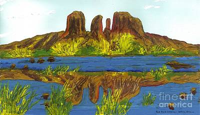 Red Rock Crossing Art Print by Patrick Grills