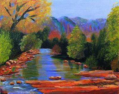 Red Rock Crossing Art Print by Roy Gould