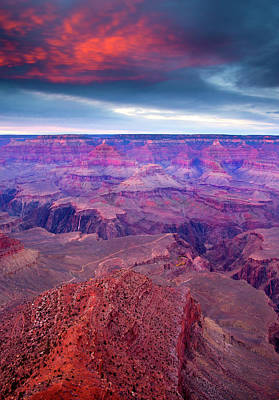 Rock Photograph - Red Rock Dusk by Mike  Dawson
