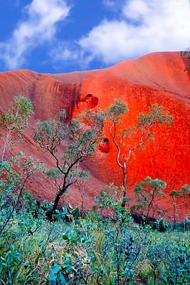 Photograph - Red Rock Face Central Australia by David Rich