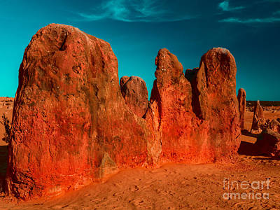 Digital Art - Red Rock Pinnacle by Julian Cook