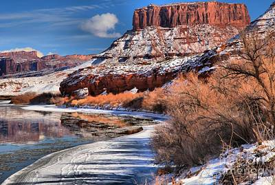 Fisher Towers Photograph - Red Rock River Landscape by Adam Jewell