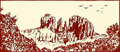 Red  Rock  Sedona Art Print by Hartmut Jager