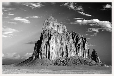 Benchmark Photograph - Red Rock Shiprock New Mexico    by Mark Goebel