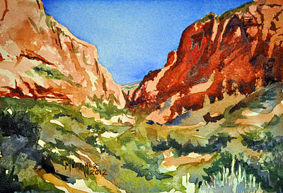 Wyoming Painting - Red Rock Summer by Spencer Meagher