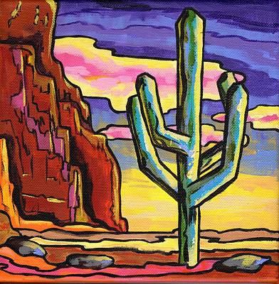 Contemporary Landscape Painting - Red Rock Sunset by Alexandria Winslow