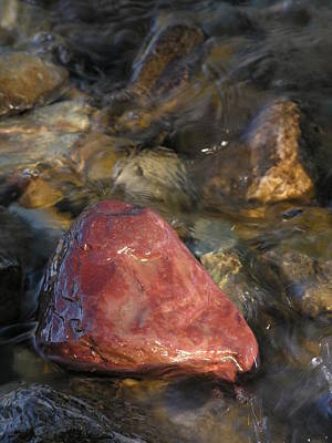 Photograph - Red Rock Washed By Water by Robert Lozen